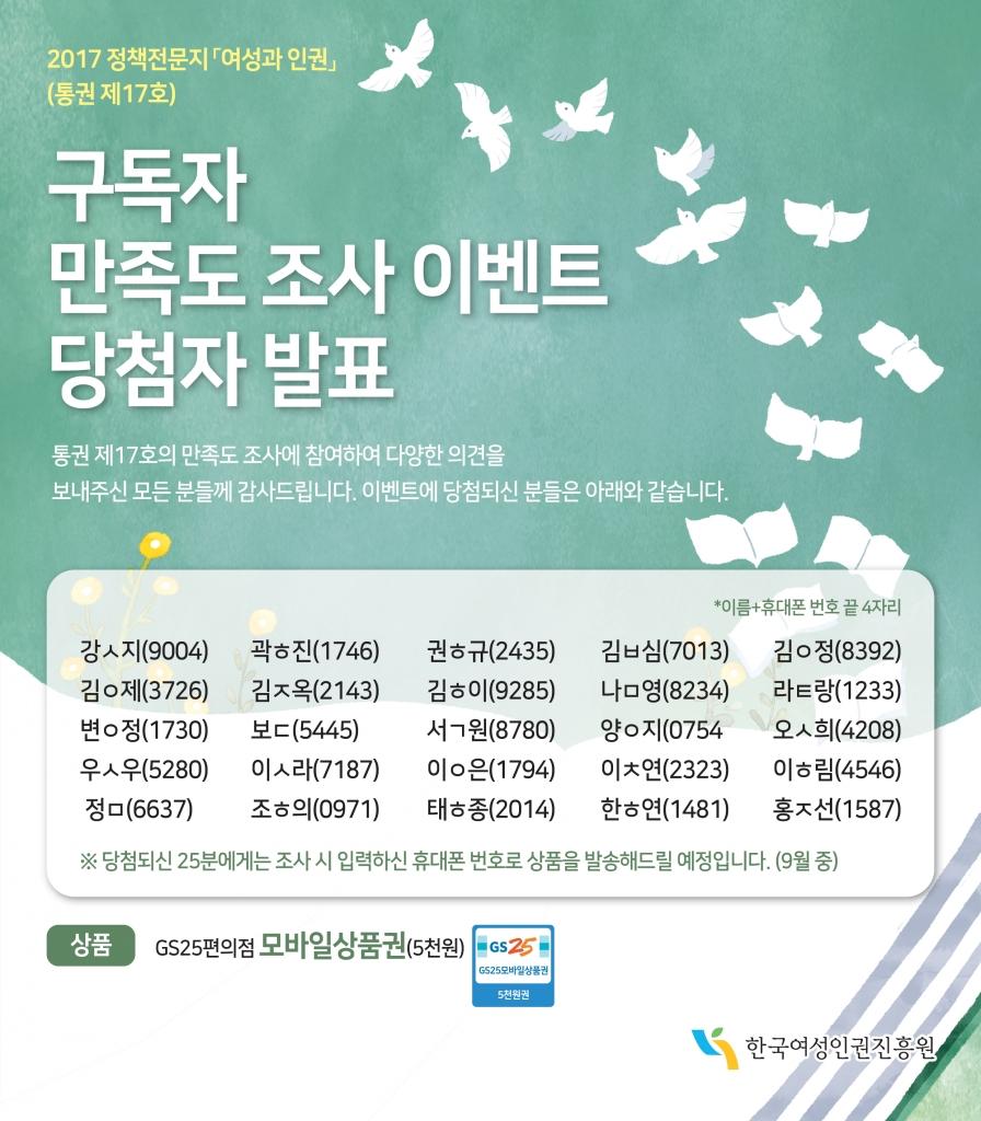 2017 여성과 인권 홍보 이벤트_정답자 발표_수정시안